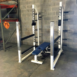 Wynmore Collegiate Athletic Edge Rack and Adjustable Bench Set