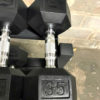 BRAND NEW EMPIRE Rubber Hex Dumbbell Sets - Click for Options - 11