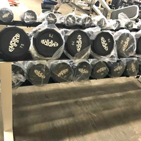 BRAND NEW Empire 12-Sided Prostyle Rubber Dumbbells