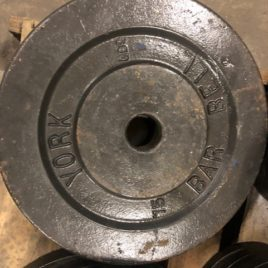 York USA Vintage 75 lb. Olympic Plate Pair – EXTREMELY RARE