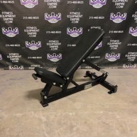 Hammer Strength Adjustable 0-90 Degree Bench On Wheels – Clean