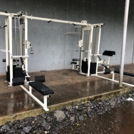 Paramount 8 Station/Stack Jungle Gym Dual Adjustable Pulley Cable Crossover w/300 lb. Stacks