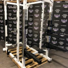 Hammer Strength Double Sided Power Rack 2 in 1 – Fully Loaded w/Dip Attachment – Refurbished