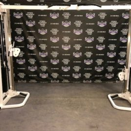 Nautilus Dual Adjustable Pulley Cable Crossover w/Pull-up Bar and 250 lb. Stacks