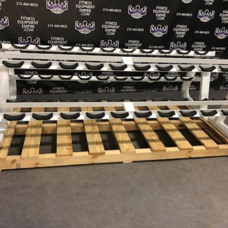 Precor Icarian Prostyle Dumbbell Saddle Racks Matching Pair (2) - Refurbished