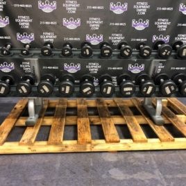 Intek Champion 5-50 Rubber Dumbbells w / Life Fitness Signature Series Prostyle Rack