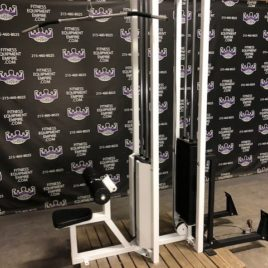 Power Lift Lat Pulldown & Low Row Pulley Double 300 lb. Stack Machine