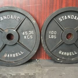100 lb. Standard Olympic Plate Pairs – Preowned