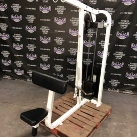 Life Fitness Tricep Pushdown – Cable Bicep Preacher Curl & Lat Pulldown Combo Machine