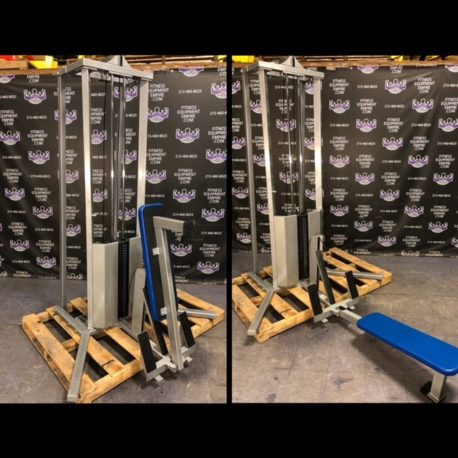 Power Lift Low Cable Row w/300 lb. Stack & Fold Up Bench - Multi Exercise Machine