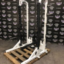 Hammer Strength HD Elite Half Rack – Current & Latest Model w/4x Barbell Holders