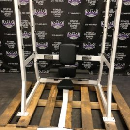Hammer Strength Olympic Military Overhead Shoulder Press w/Spotter Stand & Safety