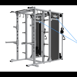 Empire Elite Dual Adjustable Pulley & Half Rack Combination – Functional Training System – BRAND NEW